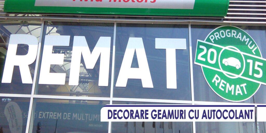 DECORARE GEAMURI CU AUTOCOLANT